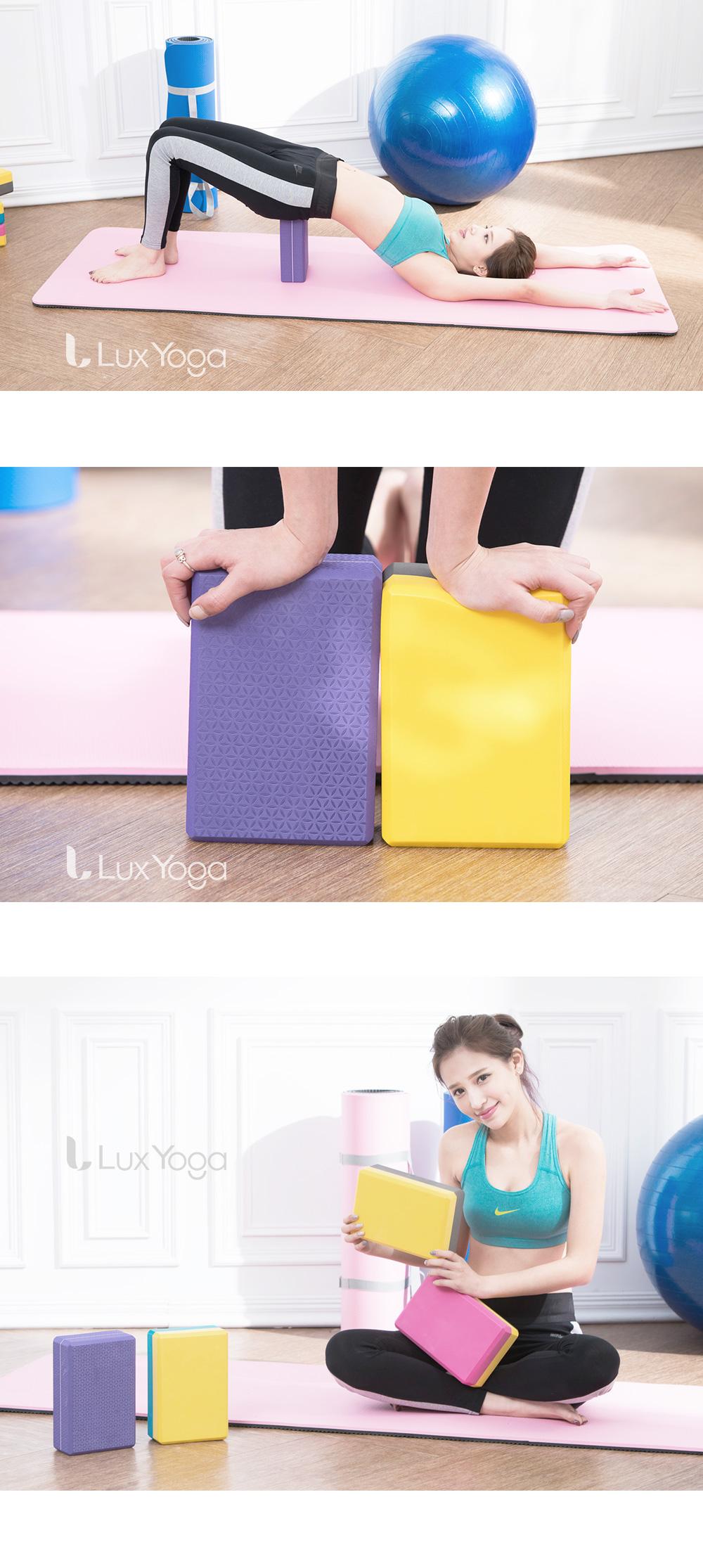 LuxYoga-高硬度瑜珈磚(紫花紋)